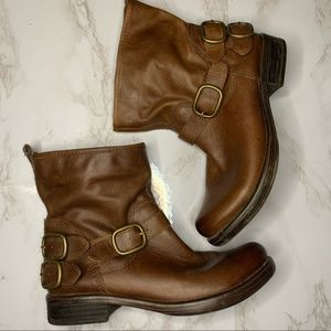 Lucky Brand Brown Leather Ankle Boots size 7 1/2
